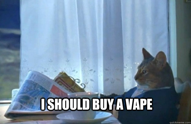 i should buy a vape - Sophisticated Cat