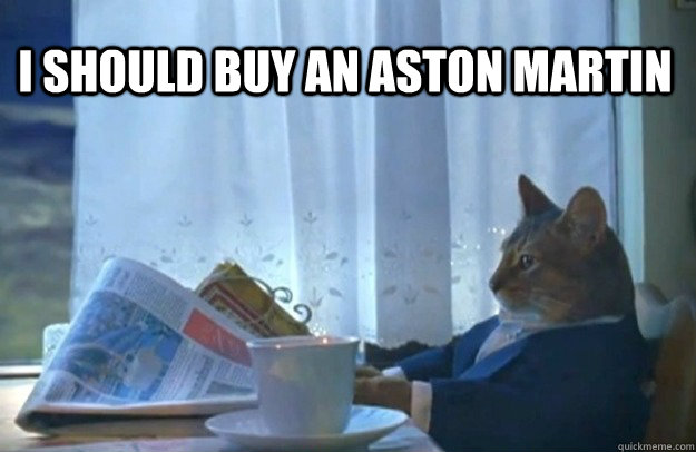 i should buy an aston martin - Sophisticated Cat