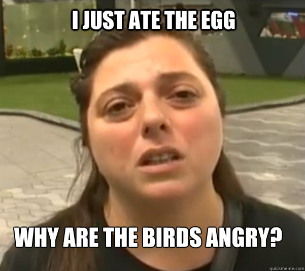 i just ate the egg why are the birds angry - Real life angry birds pig