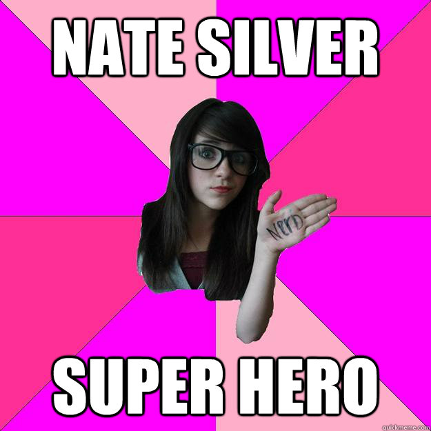 nate silver super hero - Idiot Nerd Girl