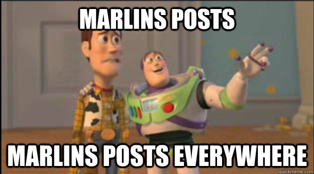 marlins posts marlins posts everywhere - buzz and woody