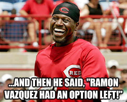 and then he said ramon vazquez had an option left - phillips