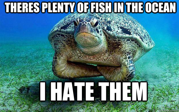 theres plenty of fish in the ocean i hate them -