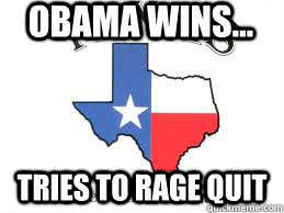 obama wins tries to rage quit -