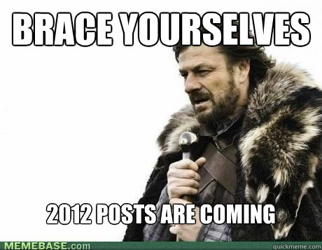 brace yourselves 2012 posts are coming - BRACE YOURSELF