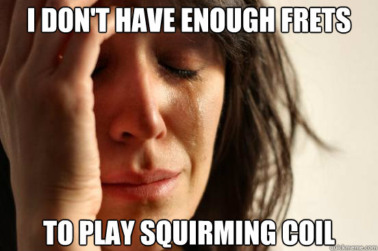 i dont have enough frets to play squirming coil - First World Problems