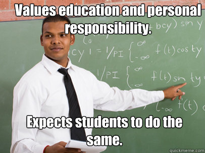 values education and personal responsibility expects studen - Good Guy Teacher
