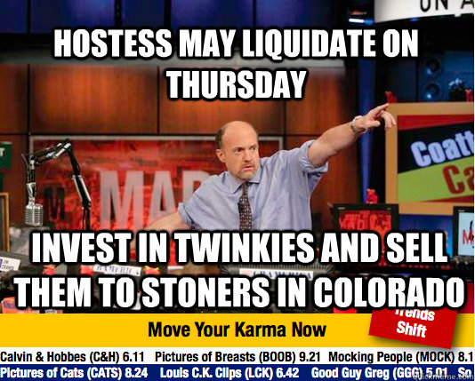 hostess may liquidate on thursday invest in twinkies and sel - Mad Karma with Jim Cramer