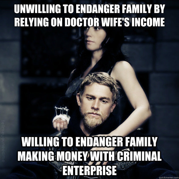 unwilling to endanger family by relying on doctor wifes inc - SOA Logic