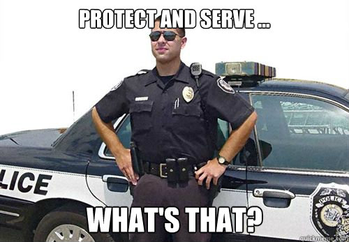 protect and serve whats that -