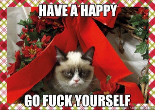 have a happy go fuck yourself - grumpy Christmas