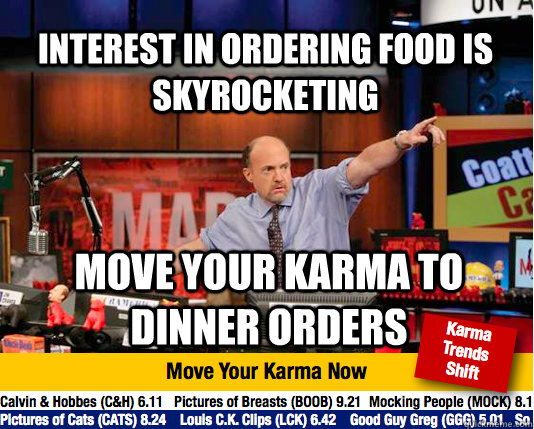 interest in ordering food is skyrocketing move your karma to - Mad Karma with Jim Cramer