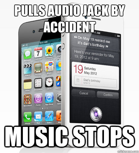 pulls audio jack by accident music stops - Good Guy iPhone