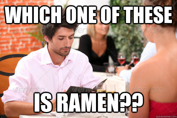 which one of these is ramen -
