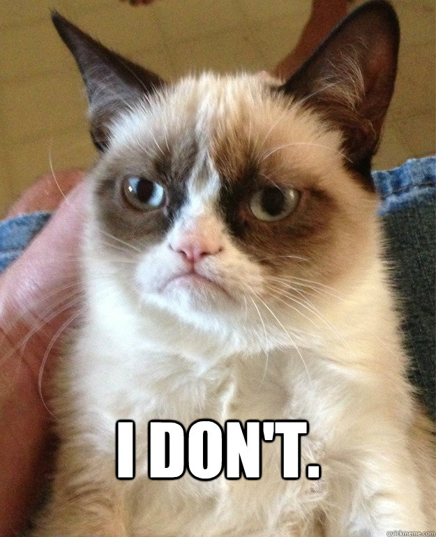 i dont - Grumpy Cat