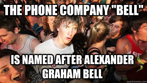 the phone company bell is named after alexander graham bel - Sudden Clarity Clarence