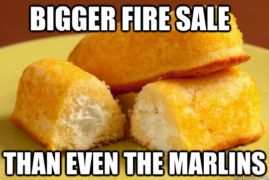 bigger fire sale than even the marlins - Twinkies
