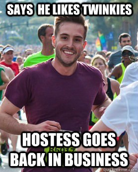 says he likes twinkies hostess goes back in business - Ridiculously photogenic guy