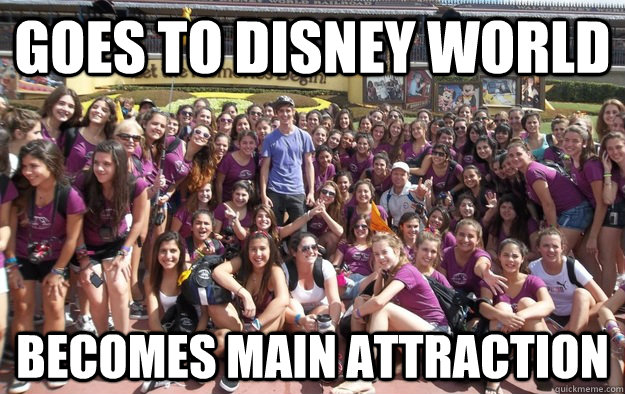 goes to disney world becomes main attraction - 