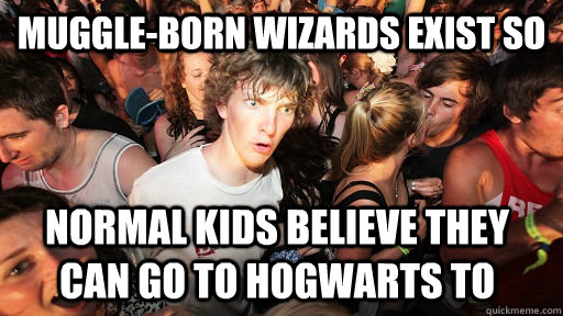 muggleborn wizards exist so normal kids believe they can go - Sudden Clarity Clarence