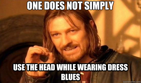 one does not simply use the head while wearing dress blues - 90s Boromir