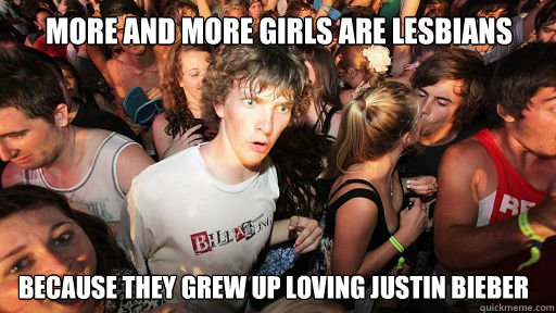 more and more girls are lesbians because they grew up loving - Sudden Clarity Clarence