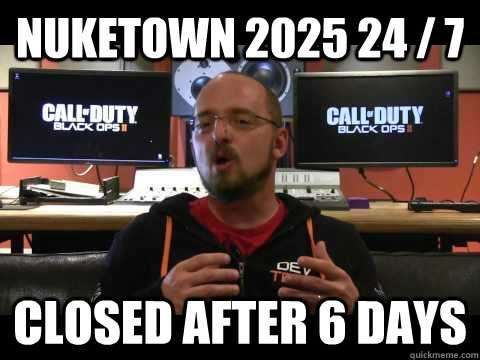 Nuketown 2025 24/7, closed after 6 days