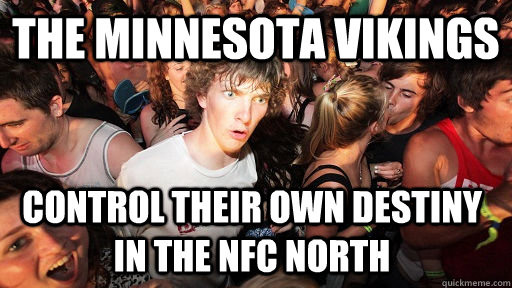 the minnesota vikings control their own destiny in the nfc n - Sudden Clarity Clarence