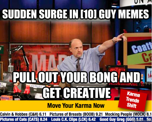 sudden surge in 10 guy memes pull out your bong and get cr - Mad Karma with Jim Cramer