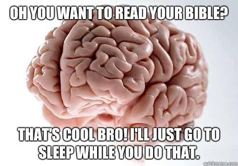 Oh you want to read your Bible Thats cool bro Ill just go to - Scumbag Brain