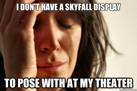 i dont have a skyfall display to pose with at my theater - First World Problems