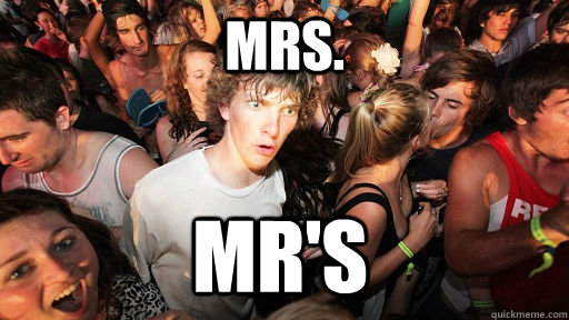 mrs mrs - Sudden Clarity Clarence