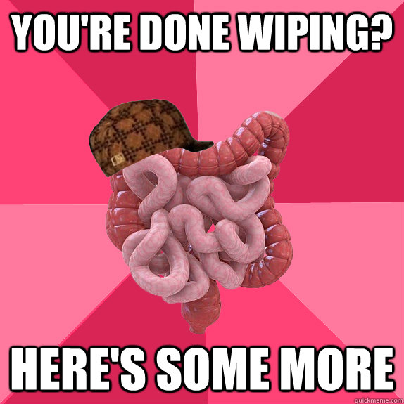 youre done wiping heres some more - Scumbag Intestines