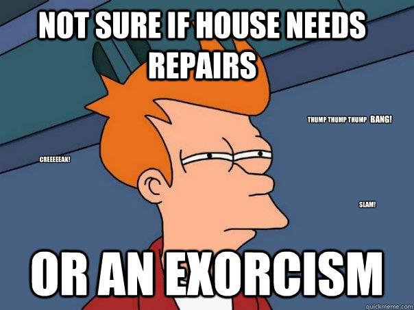not sure if house needs repairs or an exorcism creeeeeak sl - Futurama Fry