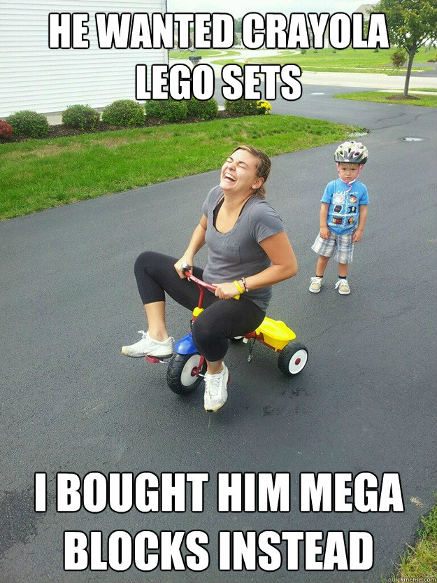 he wanted crayola lego sets i bought him mega blocks instead - Hysterically Psycho Mom
