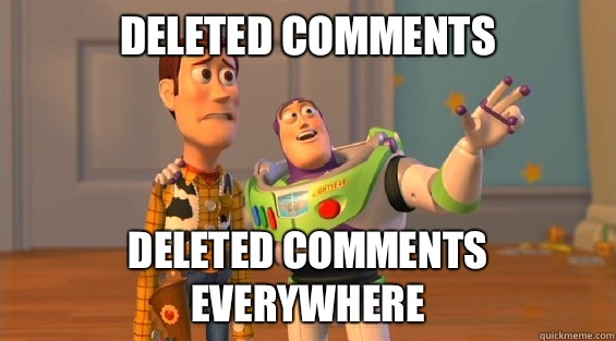 Deleted Comments Deleted Comments Everywhere - boromirs everywhere