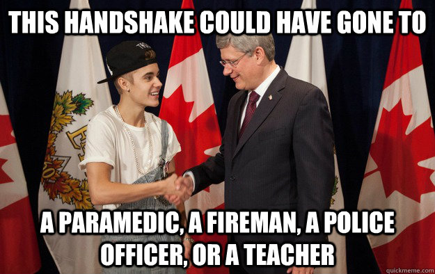 this handshake could have gone to a paramedic a fireman a  - 