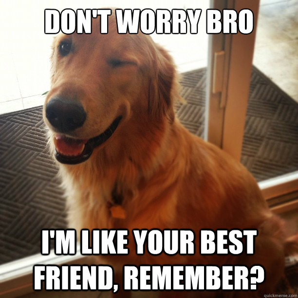 dont worry bro im like your best friend remember -