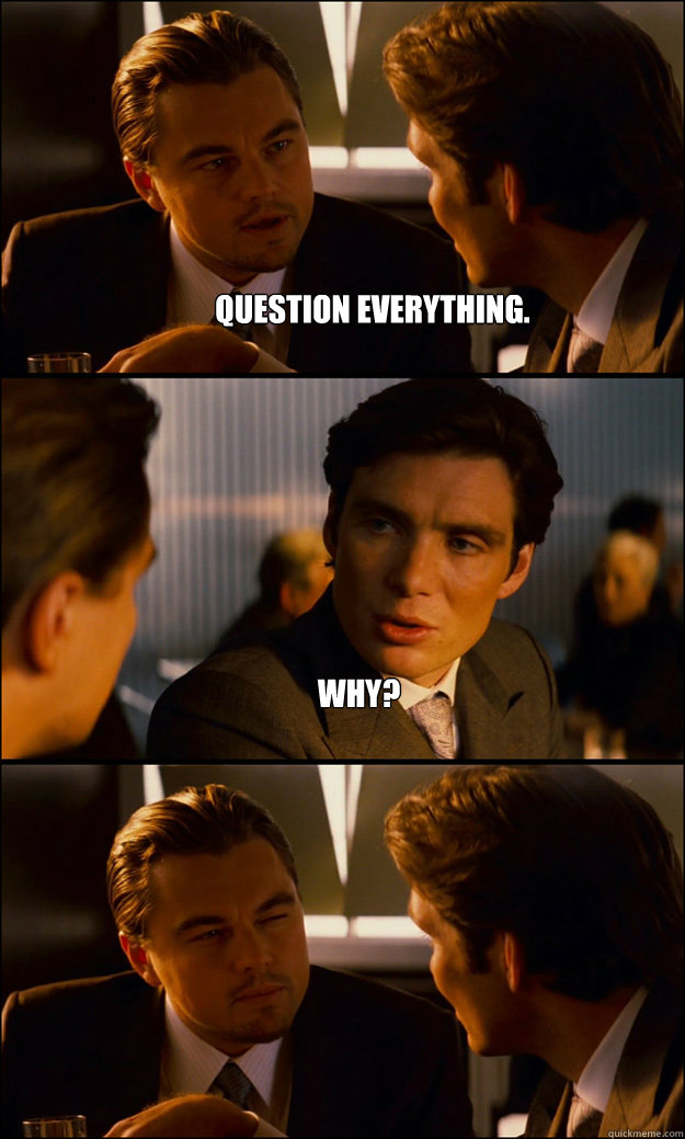 question everything why  - Inception