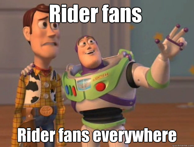 rider fans rider fans everywhere - Pinks everywhere