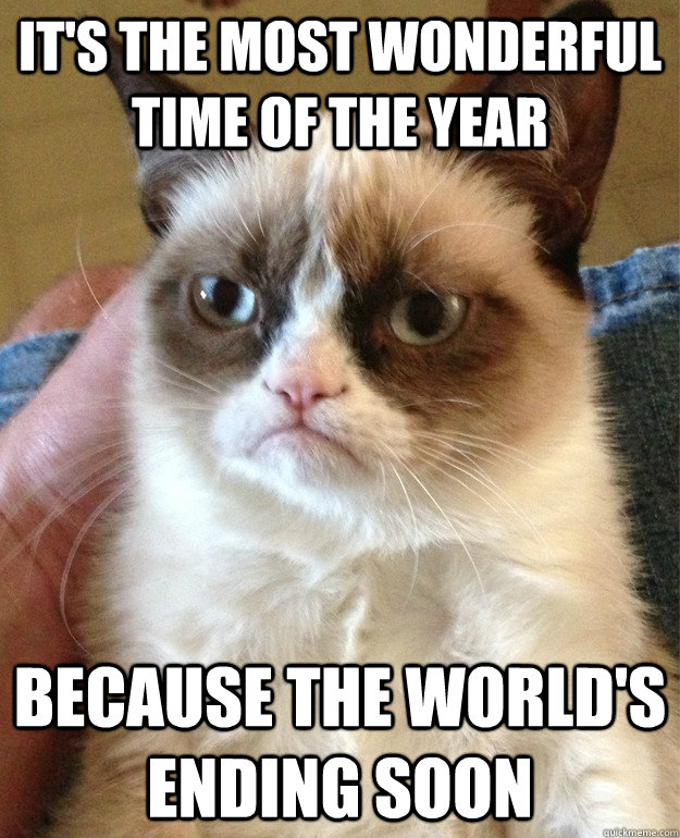 its the most wonderful time of the year because the worlds - Grumpy Cat