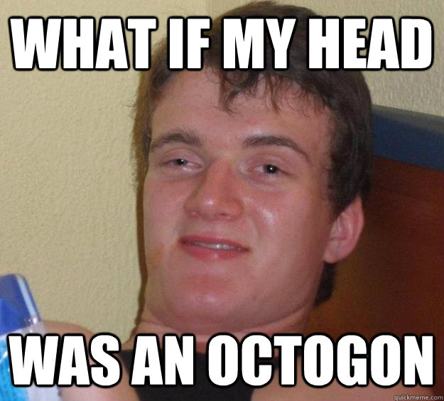 what if my head was an octogon - 10 Guy