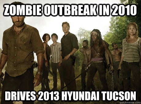 zombie outbreak in 2010 drives 2013 hyundai tucson - 