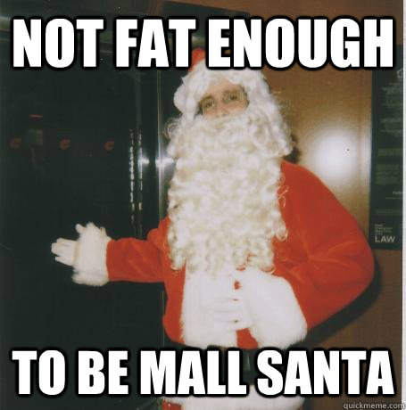 not fat enough to be mall santa - Bank Santa