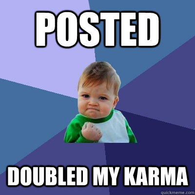 posted doubled my karma - Success Kid
