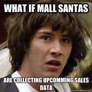 what if mall santas are collecting upcomming sales data - Conspiracy Keanu Sexy