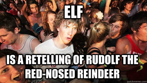 elf is a retelling of rudolf the rednosed reindeer - Sudden Clarity Clarence