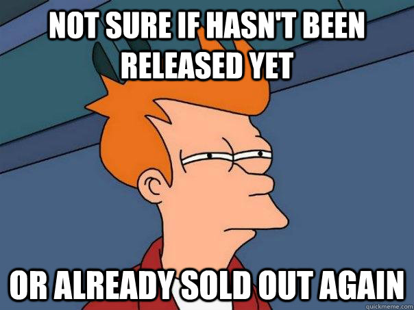 not sure if hasnt been released yet or already sold out aga - Futurama Fry