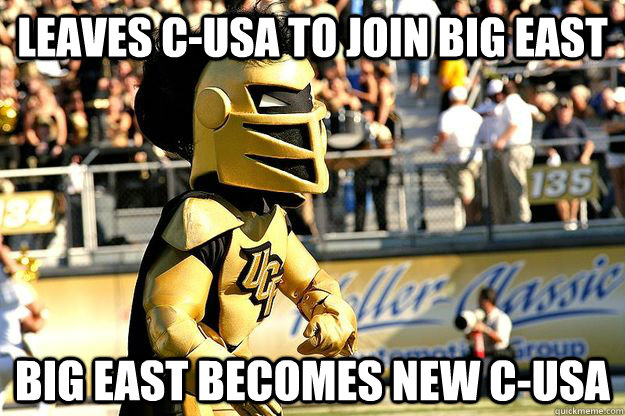 leaves cusa to join big east big east becomes new cusa -