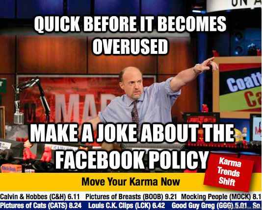quick before it becomes overused make a joke about the faceb - Mad Karma with Jim Cramer